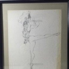 Arte: PERE CLAPERA I ARGELAGUER , BONITO DIBUJO A LAPIZ. Lote 54835660