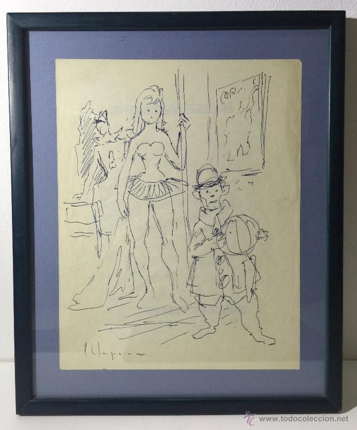 PERE CLAPERA I ARGELAGUER , DIBUJO ORIGINAL A TINTA (Arte - Dibujos - Contemporáneos siglo XX)