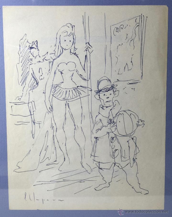 Arte: PERE CLAPERA I ARGELAGUER , DIBUJO ORIGINAL A TINTA - Foto 2 - 54835673