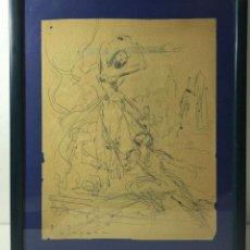 Arte: PERE CLAPERA I ARGELAGUER , DIBUJO ORIGINAL A TINTA FIRMADO. Lote 54835685