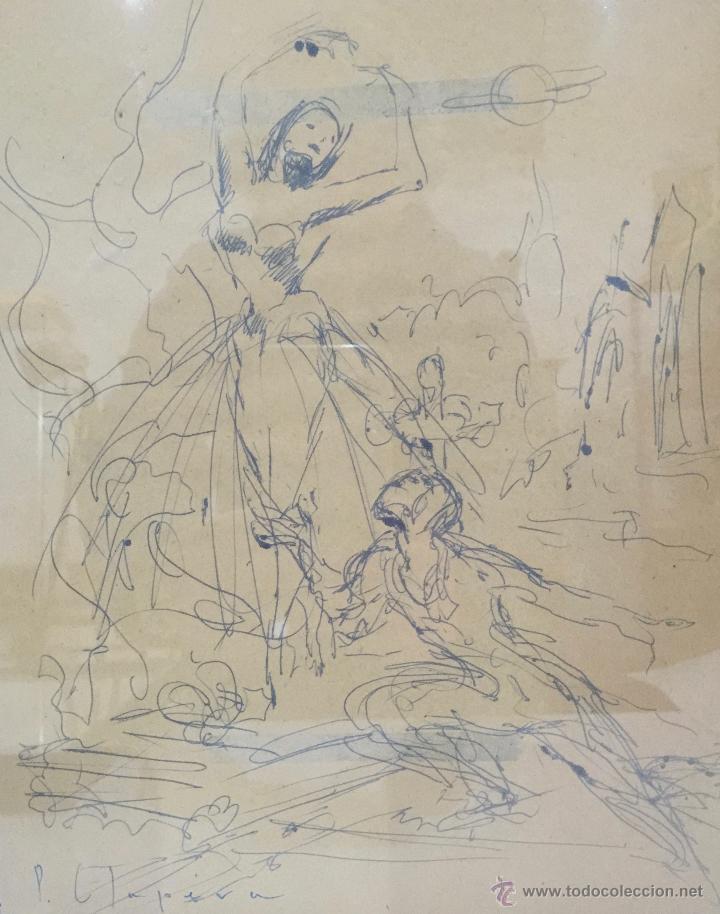 Arte: PERE CLAPERA I ARGELAGUER , DIBUJO ORIGINAL A TINTA FIRMADO - Foto 2 - 54835685