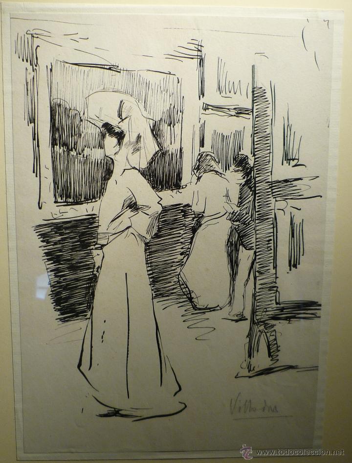 Arte: DAMA EN LA EXPOSICION POR RICARDO DE VILLODAS (1846-1904) - Foto 2 - 54903888