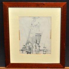 Arte: PERE YNGLADA SALLENT (SANTIAGO DE CUBA, 1881 - BARCELONA, 1958) DIBUJO A LÁPIZ. Lote 54905539