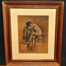 Arte: JOSE JIMENEZ ARANDA (SEVILLA, 1837 - 1903) SENSACIONAL DIBUJO A PLUMILLA FECHADO DEL AÑO 1876. Lote 54911384