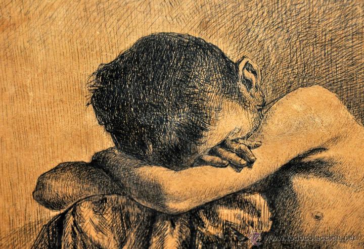 Arte: JOSE JIMENEZ ARANDA (Sevilla, 1837 - 1903) SENSACIONAL DIBUJO A PLUMILLA FECHADO DEL AÑO 1876 - Foto 3 - 54911384