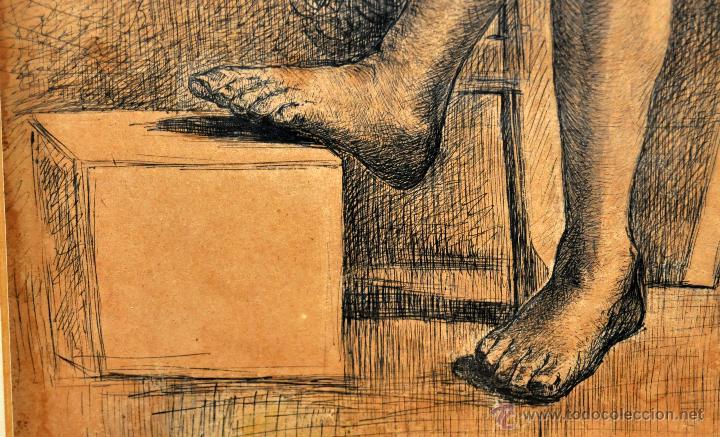 Arte: JOSE JIMENEZ ARANDA (Sevilla, 1837 - 1903) SENSACIONAL DIBUJO A PLUMILLA FECHADO DEL AÑO 1876 - Foto 4 - 54911384
