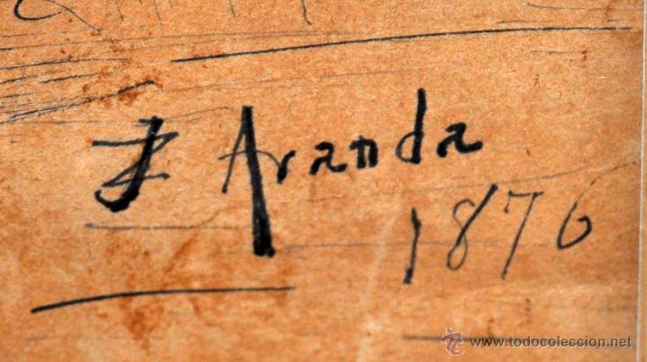 Arte: JOSE JIMENEZ ARANDA (Sevilla, 1837 - 1903) SENSACIONAL DIBUJO A PLUMILLA FECHADO DEL AÑO 1876 - Foto 6 - 54911384