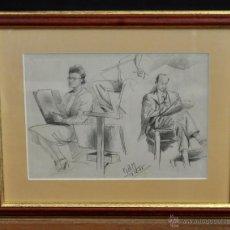 Arte: RAMON AGUILAR MORE (BARCELONA, 1924 - 2015) DIBUJO A LÁPIZ SOBRE PAPEL DEL AÑO 1945. EN LA ACADEMIA. Lote 113137678