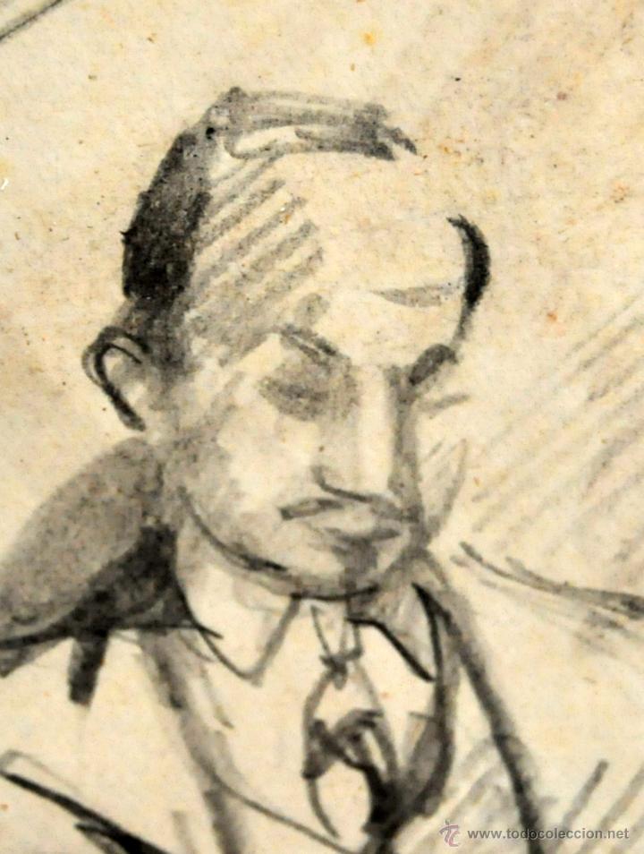 Arte: RAMON AGUILAR MORE (Barcelona, 1924 - 2015) DIBUJO A LÁPIZ SOBRE PAPEL DEL AÑO 1945. EN LA ACADEMIA - Foto 4 - 113137678