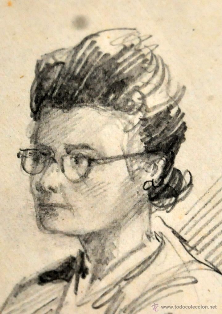 Arte: RAMON AGUILAR MORE (Barcelona, 1924 - 2015) DIBUJO A LÁPIZ SOBRE PAPEL DEL AÑO 1945. EN LA ACADEMIA - Foto 6 - 113137678
