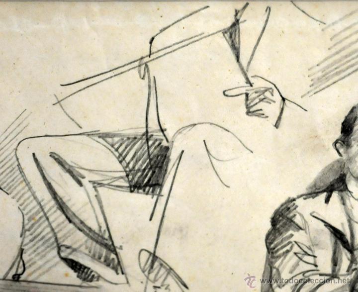 Arte: RAMON AGUILAR MORE (Barcelona, 1924 - 2015) DIBUJO A LÁPIZ SOBRE PAPEL DEL AÑO 1945. EN LA ACADEMIA - Foto 7 - 113137678