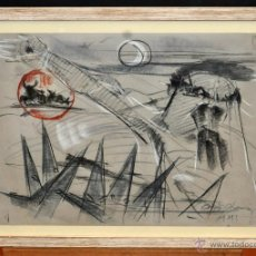 Arte: JOSEP MARÍA CODINA CORONA (IGUALADA 1935) TECNICA MIXTA SOBRE PAPEL. Lote 54921286