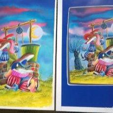 Arte: DIBUJOS ILUSTRACIONES - 9 ORIGINALES PARA HACER UN COMIC. Lote 55122000
