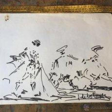 Arte: DIBUJO TAURINO ORIGINAL DE J DE LOS REYES - TAUROMAQUIA. Lote 55159017