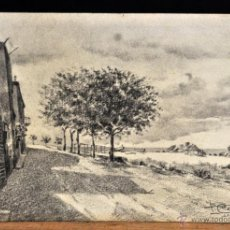 Arte: PERE CIURANA (GIRONA, ACTIVO 1ª MITAD SIG. XX). DIBUJO A LÁPIZ GRASO DEL 1951. VISTA D LLORET DE MAR. Lote 55168130