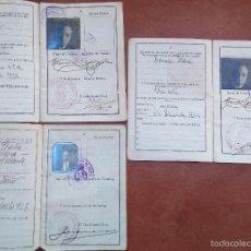 Arte: 3 PASAPORTE,DEL PINTOR,DIBUJANTE,GRABADOR CATALAN FRANCESC CANYELLES BALAGUERO,EPOCA REY ALFONSO XII. Lote 55323158