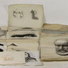 Arte: DI-054. COLECCION DE 19 DIBUJOS AL CARBON. JUAN SERRAHIMA. SIGLO XIX.. Lote 55329166
