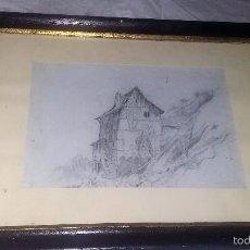 Arte: DIBUJO A LÁPIZ, ENMARCADO, PP. DEL S. XX. Lote 55387742