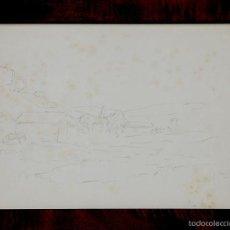 Arte: MIR TRINXET, JOAQUÍN (BARCELONA, 1873 – 1940) PAISAJE CON CASAS.CERTIFICADOLÁPIZ PLOMO SOBRE PAPEL.. Lote 55394886