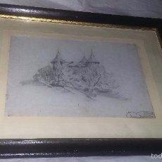 Arte: DIBUJO A LÁPIZ, ENMARCADO, PP. DEL S. XX, FIRMADO LUIS GUERRA. Lote 55402865