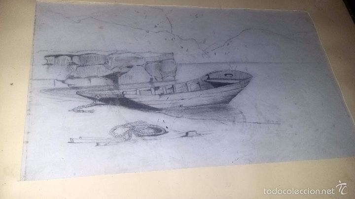 Arte: DIBUJO A LÁPIZ, ENMARCADO, PP. DEL S. XX DE UNA SERIE DE 4 PUESTOS EN VENTA - Foto 2 - 55403771