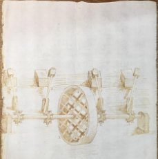 Arte: DIBUJO DE LA PRIMERA FÁBRICA DE HOJA DE LATA. MÁLAGA. INDUSTRIAL. MÁQUINAS. FELIPE V.. Lote 55717312
