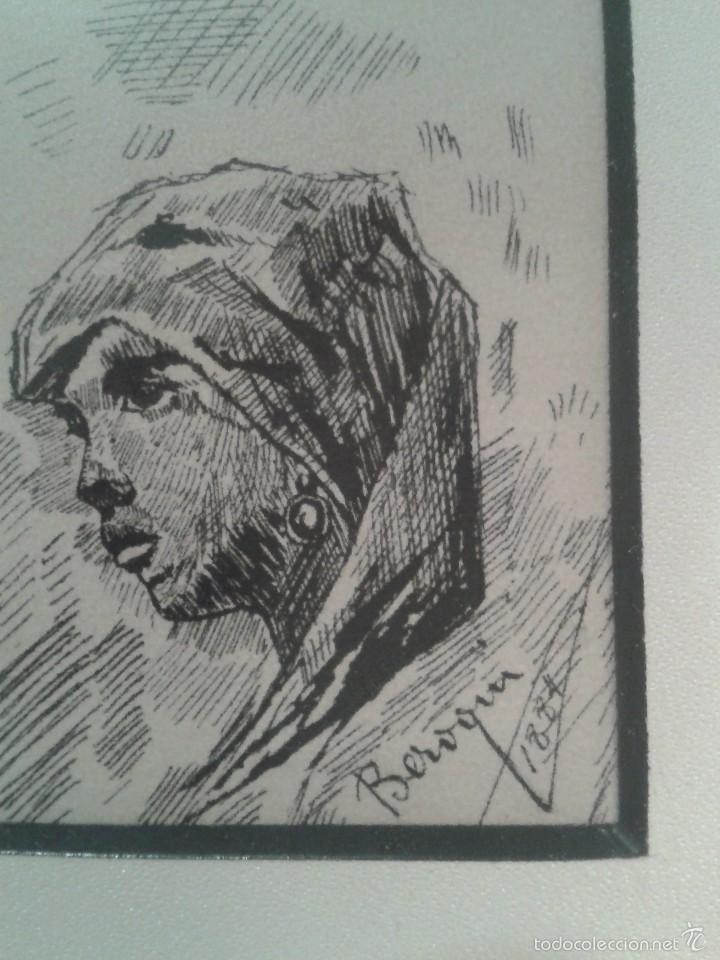 DIBUJO DE BOCETOS A PLUMILLA DE PEDRO BEROQUI (S.XIX) (Arte - Dibujos - Modernos siglo XIX)