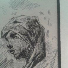 Arte: DIBUJO DE BOCETOS A PLUMILLA DE PEDRO BEROQUI (S.XIX). Lote 55806290