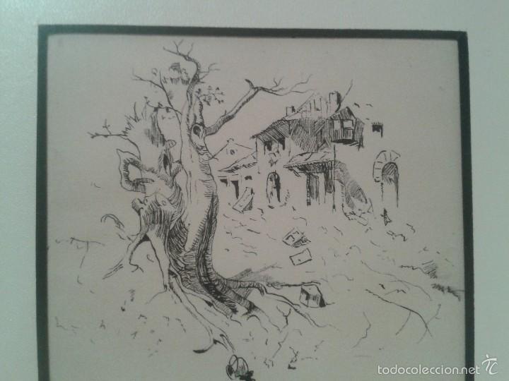 Arte: Dibujo de bocetos a plumilla de Pedro Beroqui (s.XIX) - Foto 4 - 55806290