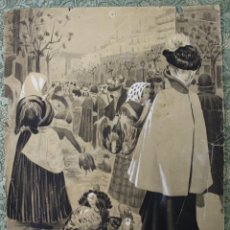 Arte: DI-062. ILUSTRACIÓN PARA L'ESQUELLA DE LA TORRATXA. FIRMADO J. BORRI. CIRCA 1900. Lote 55875515
