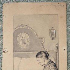 Arte: DI-065. ILUSTRACIÓN PARA L'ESQUELLA DE LA TORRATXA. MANUEL MOLINÉ I MUNS (1833-1901). Lote 55880198