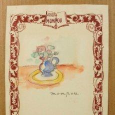 Arte: JOSEP MOMPOU (1888-1968), DIBUJO SOBRE PAPEL 16X22 CM.. Lote 56066481