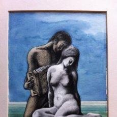 Arte: DIBUJO ORIGINAL ACUARELA Y TINTA FIRMADO - DELREY - 34X24 CMTS. Lote 55332746