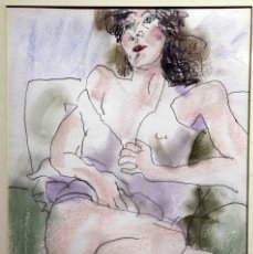 Arte: XAVIER BLANCH, TÉCNICA MIXTA SOBRE PAPEL. Lote 56172844