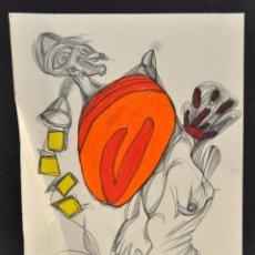 Arte: ANONIMO. TECNICA MIXTA SOBRE PAPEL. ABSTRACCION. Lote 56196642