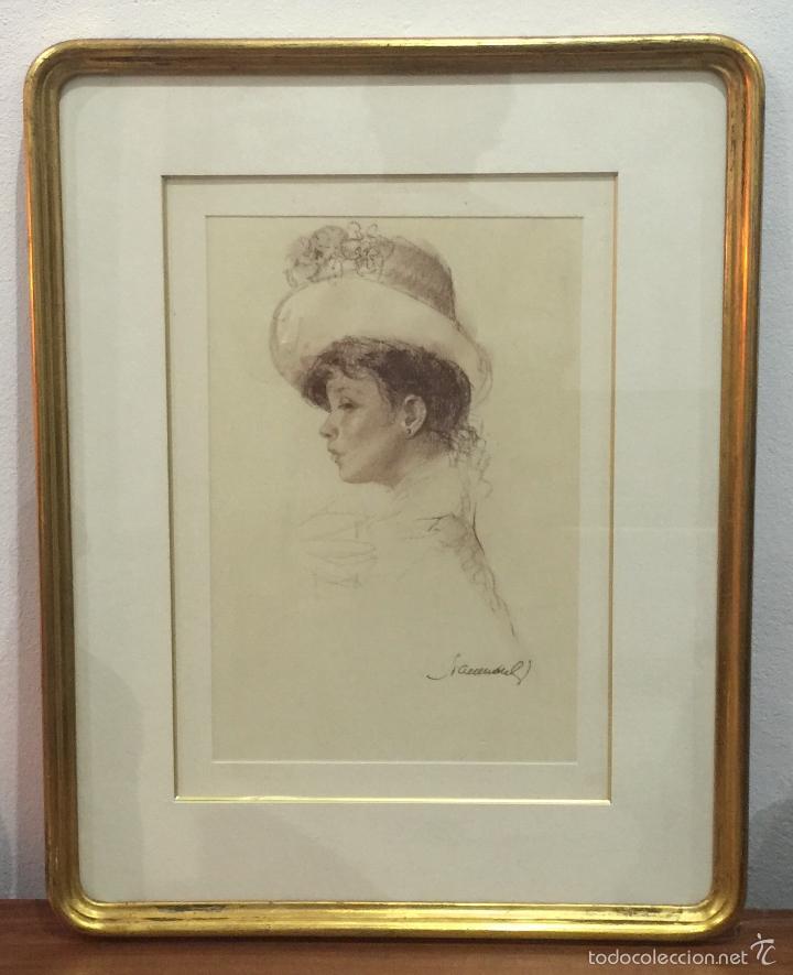 JOAN MARTI ARAGONÈS MUY BONITO EXECELETEMENTE ENMARCADO (Arte - Dibujos - Contemporáneos siglo XX)