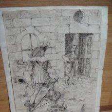 Arte: DIBUJO A TINTA - FIRMADO MANUEL DE OCAÑA , AÑO 1941. Lote 56243586
