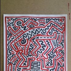 Arte: KEITH HARING- DIBUJO 36 X 29.5 CM. Lote 56257711