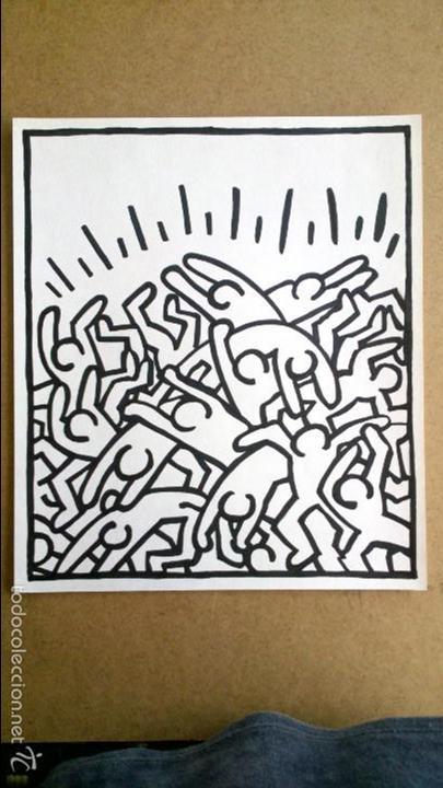 keith haring- dibujo 34.3 x 29.5 cm - Comprar Dibujos Contemporáneos ...
