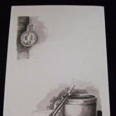 Arte: COMPOSICION TINTA CHINA FIRMA SAMUEL EZ PARA ESCUELA DE ARTE. Lote 56315145