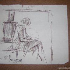 Arte: DIBUJO ORIGINAL DE DIONISIO ROMEU. Lote 56367523