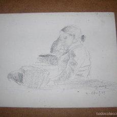 Arte: DIBUJO ORIGINAL DE DIONISIO ROMEU. Lote 56371938