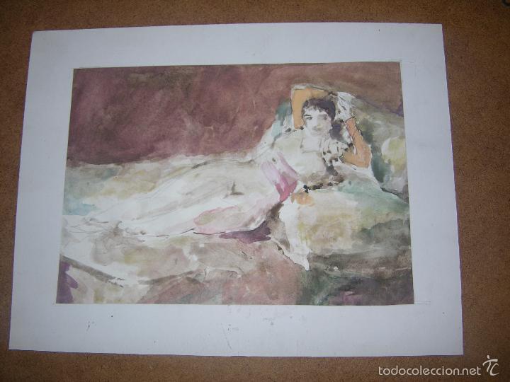 DIBUJO ORIGINAL DE DIONISIO ROMEU MD 26X20 CM (Arte - Dibujos - Contemporáneos siglo XX)