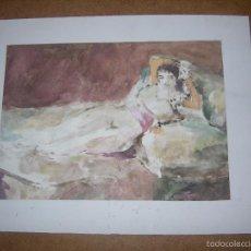Arte: DIBUJO ORIGINAL DE DIONISIO ROMEU MD 26X20 CM. Lote 56372410