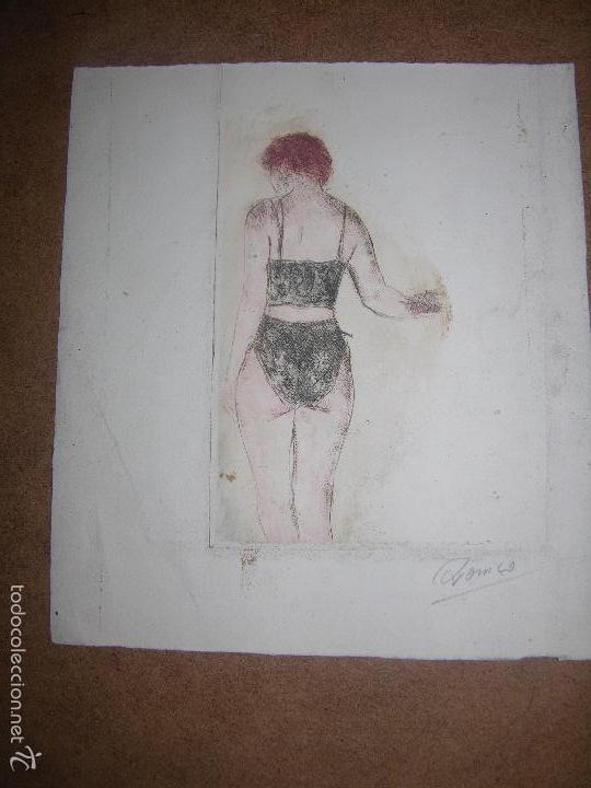 DIBUJO ORIGINAL DE DIONISIO ROMEO MED 20X22CM (Arte - Dibujos - Contemporáneos siglo XX)