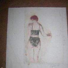 Arte: DIBUJO ORIGINAL DE DIONISIO ROMEO MED 20X22CM. Lote 56386994
