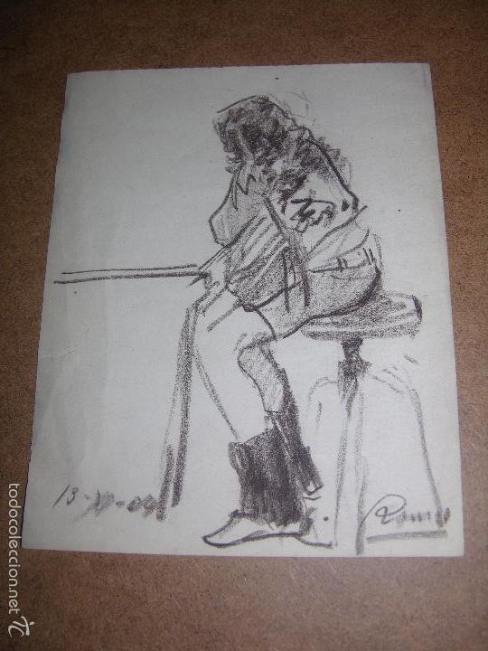 DIBUJO ORIGINAL DE DIONISIO ROMEO 22X15CM (Arte - Dibujos - Contemporáneos siglo XX)