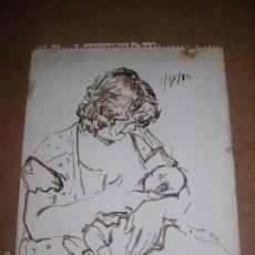 Arte: DIBUJO ORIGINAL DE DIONISIO ROMEO MD 27X21CM. Lote 56387834