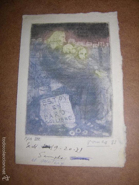 DIBUJO ORIGINAL DE DIONISIO ROMEO MD 21X14CM (Arte - Dibujos - Contemporáneos siglo XX)
