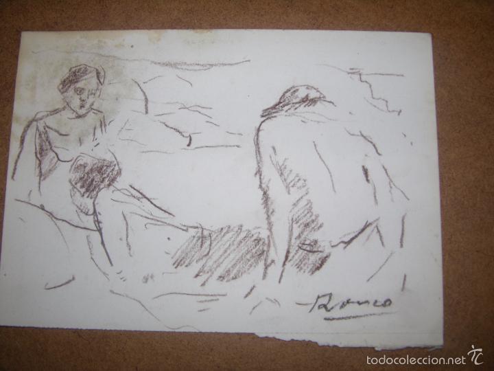 DIBUJO ORIGINAL DE DIONISIO ROMEO MD 21X15CM (Arte - Dibujos - Contemporáneos siglo XX)